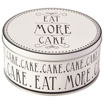 Love Food 21cm Decorative Round Cake Tin - Great Gift for Cake Bakers