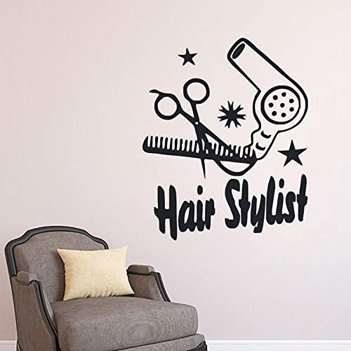 Fan Frau Art Vinly Wandaufkleber entfernen Aufkleber Beatuy Salon Schlafzimmer Dekoration Poster ZX57 * 69CM ()