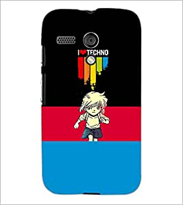 PrintDhaba Quote D-3503 Back Case Cover for MOTOROLA MOTO G (Multi-Coloured)