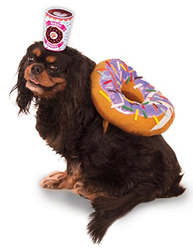 Donut Kostüm (Rubies Morning Donut And Coffee Pet Costume)