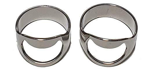 2 x Triscor Edelstahl Flaschenöffner Ring, rostfreier Stahl 20mm, 22mm