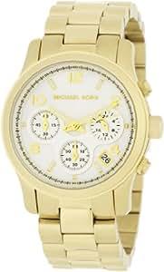 Michael Kors Damen-Armbanduhr XS Chronograph Quarz Edelstahl beschichtet MK5305