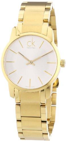 Calvin Klein Damen-Armbanduhr XS ck city Analog Quarz Edelstahl beschichtet K2G23546