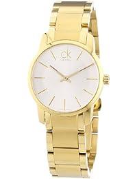 Calvin Klein K2G23546 - Reloj analógico de Cuarzo para Mujer con Correa de Acero Inoxidable bañado