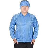Water & Wood Women Men Blue Elastic Cuff Patch Pockets Anti Static ESD Lab Smock Coat L