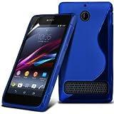 MCI Funda Gel TPU S-Line Sony Xperia E1 D2005 Color Azul