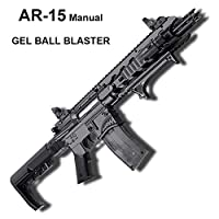 GELRIZTY AR-15 Maunal Gel Ball Blaster - Maunal Gel Soil Water Crystal Beads Toy Blaster - Safe and Harmless Toy Gun - Cool Emulation Shape