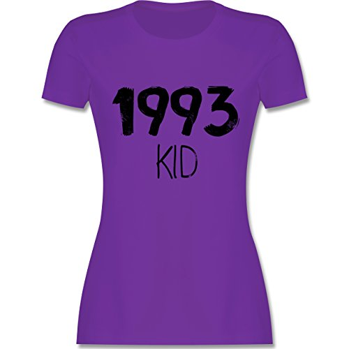 Shirtracer Geburtstag - 1993 Kid - Damen T-Shirt Rundhals Lila