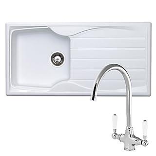 Astracast Sierra 1.0 Bowl White Kitchen Sink & Reginox Elbe Chrome Mixer Tap