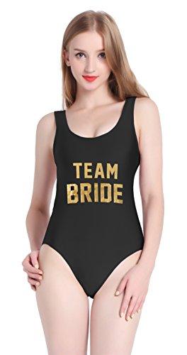 PINJIA -  Costume intero  - Donna Gold Black TEAM BRIDE