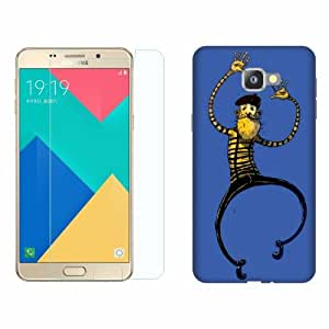 Printland Tempered Glass + Back Cover Combo For Samsung Galaxy A9 Pro