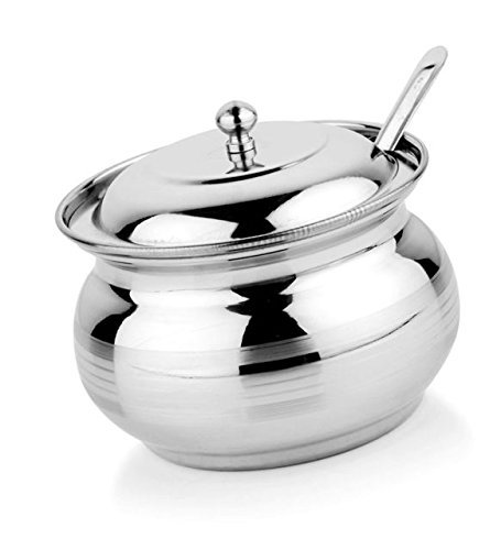 Stainless steel ghee oil pot kitchen dining storage container 300 ML