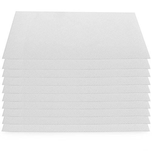 Oramics Klebevlies 10er Pack, selbstklebende Fixierpflaster zur Wundversorgung, Fixierbinde selbsthaftend in weiß