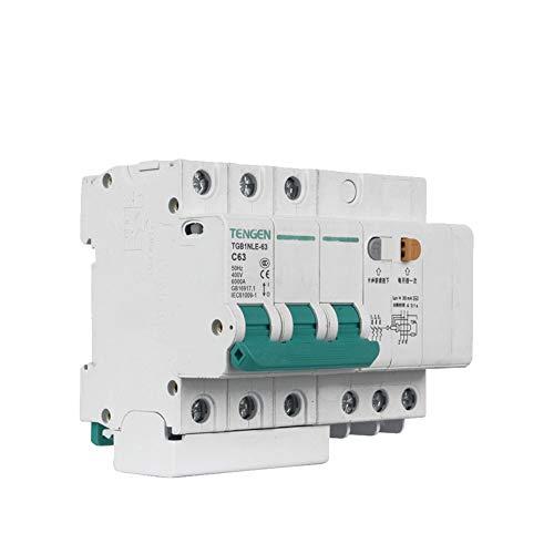 OIASD Interruptor de Aire Interruptor de protección contra Fugas 3P C63A 30mA...