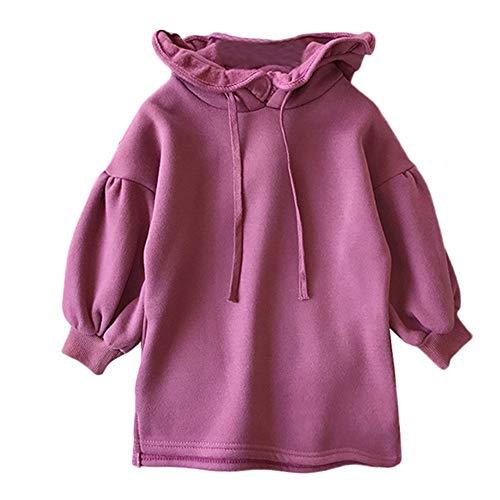 sunnymi 1-5 Jahre Baby Sweatshirt Mädchen Cartoon Katze Sweatshirt mit Kapuze Pullover Kleidung Tops