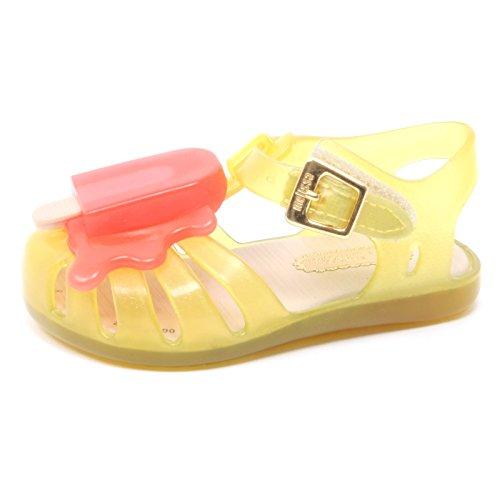 B3782 sandalo bimba MINI MELISSA scarpa gomma mare giallo shoe kid [21]