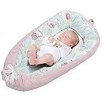 AOLVO - Tumbona para bebé, Desmontable y Reversible, para recién Nacido, cunas y cunas, cojín para Tumbona, Coco portátil para acurrucarse, Cama Nido para 0 – 2 años de Edad