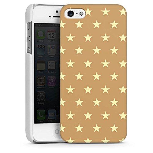Apple iPhone 5s Housse Étui Protection Coque Petite étoile Motif Motif CasDur blanc