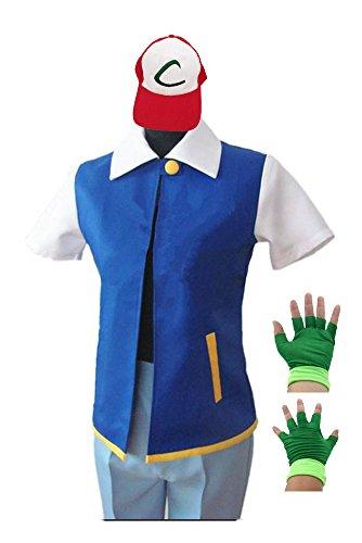 Imagen de disfraz de saianke sudadera con capucha chaqueta de cosplay conjuntos de gorro de guantes para entrenamiento alternativa