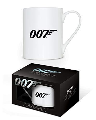 James Bond MGBC23559 ((007 Logo) Bone China Mug, Céramique, Multicolore, 11oz/315ml