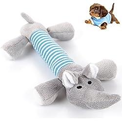 Juguete Mordedor con Sonidos para Perro Cachorro Mascota Peluche -Color Gris