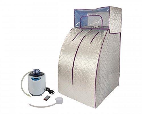 Portable Dampfsauna deluxe Svedana, Minisauna komfort mit drahtloser Fernbedienung und elektronisch...