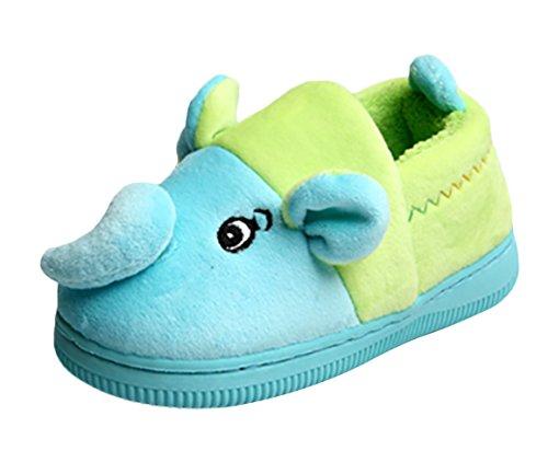 SK Studio Enfant Animaux Chaussons Antidérapants Peluche Pantoufles Fourrés Éléphant Chaussures de Maison