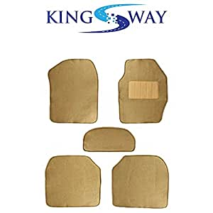 Kingsway Carpet Mats for Fiat Linea (Beige Color, Set of 5)