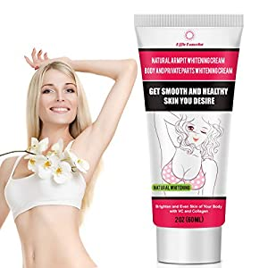 Natural Armpit Whitening Cream, Body Moisturizer with VC, Collagen and HA, Dark Skin Lightening for Knee, Underarms & Sensitive Areas