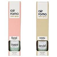 AirRoma Combo of Mogra Magic Fragrance Air Freshener Spray 200 ml & Sandal Sweet Fragrance Air Freshener Spray 200 ml