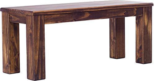 Brasilmöbel Bank 110 cm Rio Classico Eiche antik Pinie Massivholz Esszimmerbank Küchenbank Holzbank Echtholz Sitzbank Größe und Farbe wählbar