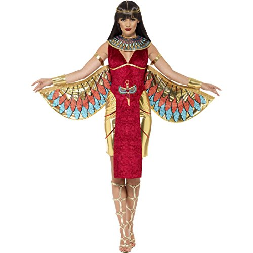 Ägyptische Kostüm Weibliche - Amakando Ägyptische Göttin Kostüm - M (38/40) - Göttinnenkostüm Damen Ägypterin Kostüm Cleopatra Outfit weibliche Gottheit Faschingskostüm Antike Isis Damenkostüm