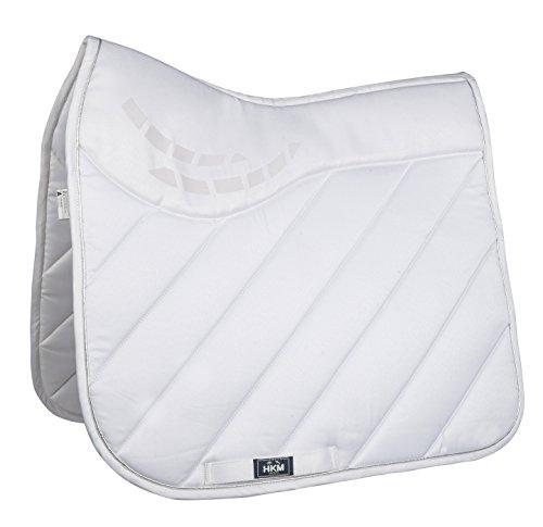 HKM Sports Equipment HKM Schabracke -Parma-, Weiß/Weiß, Dressur