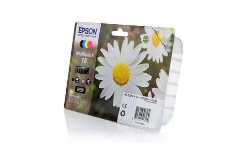 Preisvergleich Produktbild Original Tinte passend für Epson Expression Home XP-300 Series Epson 18 C13T18064010-4x Premium Drucker-Patrone - Schwarz, Cyan, Magenta, Gelb - 1x175 & 3x180 Seiten