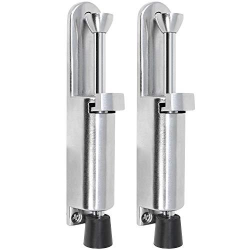 com-four® 2X Türfeststeller für Boden aus Zink, Türstopper 16,5-19,5 cm (Zink 14 cm - 02 Stück)
