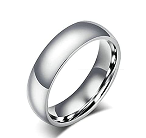 KnSam Men Stainless Steel Wedding Bands High Polish Comfort Fit Silver Size Z+1 [Novelty Ring]