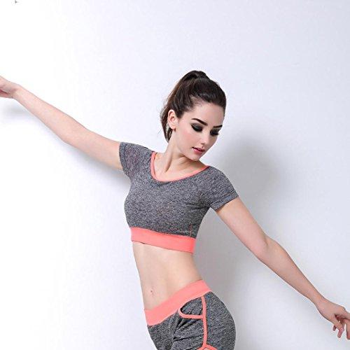 Mounter Gilet de Sport, Femme Yoga Bra Fitness Gym Taille Stretch Sport Yoga Bra Soutiens-gorge Pour Femme Sport Top Orange