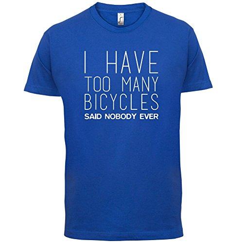 Ich habe zu viele Fahrräder - Herren T-Shirt - 13 Farben Royalblau