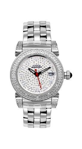 NUEVO! Aqua Master traje de neopreno para mujer ' 16-de diamante reloj de pinceles de fibra de