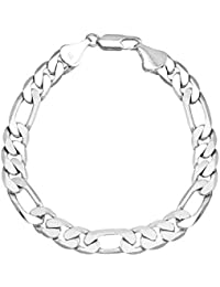 I Jewels Silver Plated Classic Cubic Chain Style Bracelet for Men (A93MLP32S)