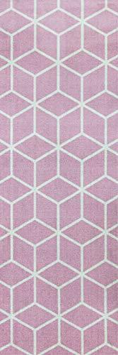 (onloom Küchenläufer in graphischen & Geometrischen Designs, robust, schadstoffgeprüft, Farbe:Pink, Größe:50 x 150 cm)