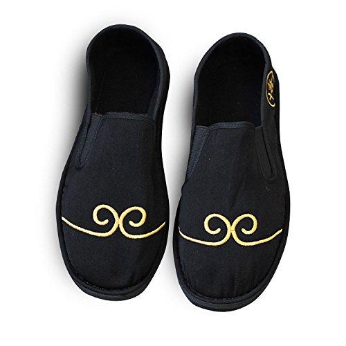 LvYuan Unisex Chinesische traditionelle Tuchschuhe / beiläufige Retro Atmen Sie gestickte Schuhe / Kung Fu Schuhe / Kampfkünste / Beleg-auf Schuhe Black