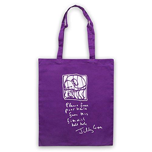Inspiriert durch Brass Eye Karla The Elephant Jilly Cooper Letter Inoffiziell Umhangetaschen Violett
