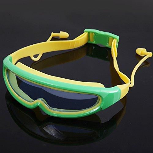 BEAUTOP Große Frame Swimming Glasses Kindern anti-fog-für Kinder, wasserdicht, Schwimmen Brille Brillen, grün, 15x5x3cm