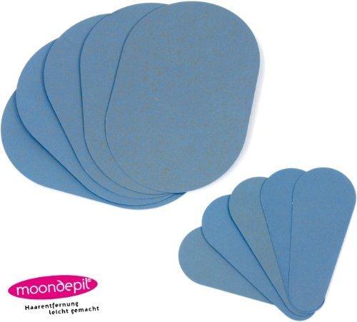 10x moondepil Ersatzscheiben - Haarentfernung leicht gemacht - in zwei verschiendenen Größen