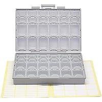 AideTek BOXALL48 lids empty enclosure SMD SMT organizer surface mount box labels