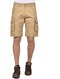 YOO Men's Non Lycra Solid Casual Regular Fit Short