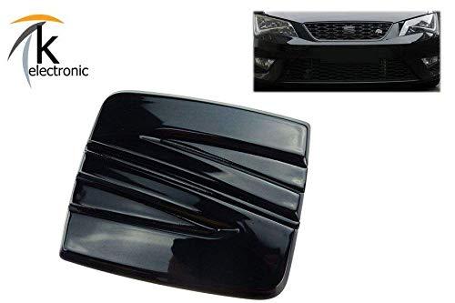 k-electronic SEAT Leon 5F Vor-Facelift Emblem schwarz glänzend/Zeichen für Kühlergrill Front vorne