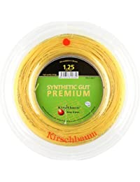 Kirschbaum Carrete Synthetic Gut – Cordaje de Raqueta de Tenis, SGP125-200, Natural, 1.25mm/17-Gauge
