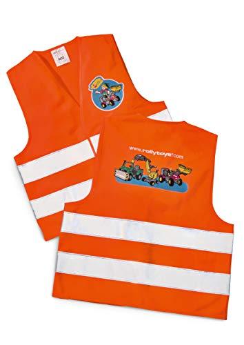 Rolly Toys Sicherheitsweste (rollySavety vest; Kinder Warnweste; Sicherheitsweste orange; 2x Reflektoren) 558698